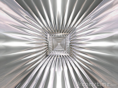 Abstract chrome tracery pattern