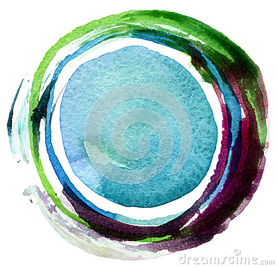 Free Abstract Circle Acrylic And Watercolor Background. Royalty Free Stock Photography - 48075337