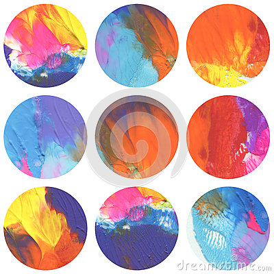 Free Abstract Circle Acrylic And Watercolor Painted Background. Stock Photo - 73778020