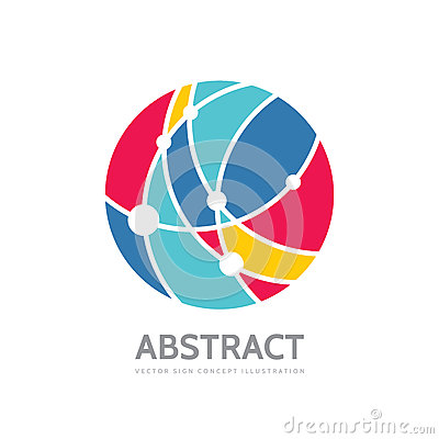 Free Abstract Circle - Vector Logo Template Concept Illustration. Modern Technology Sign. Global Network Creative Symbol. Stock Photos - 89661673