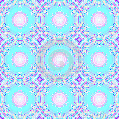 Free Abstract Circles And Diamond Pattern Turquoise Pink Violet Purple Stock Image - 89178111
