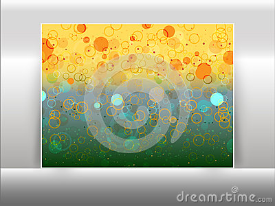 Abstract circles like bokeh effect