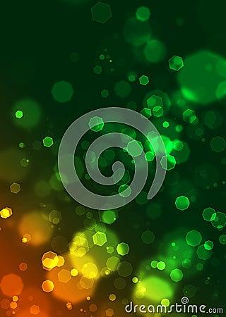 Abstract circles like digital bokeh effect