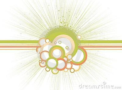 Abstract circles with lines. Vector