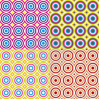 Abstract circles pattern set. Vector.