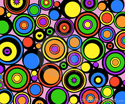 Abstract circles retro
