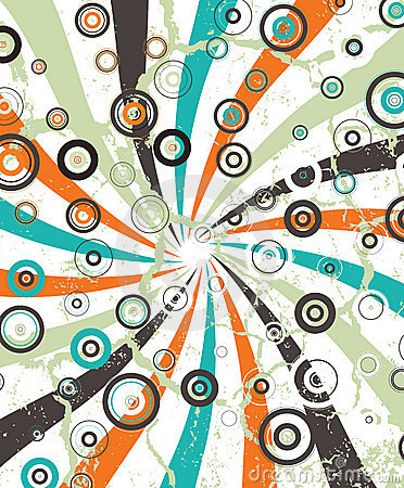 Abstract circular illustration raster design