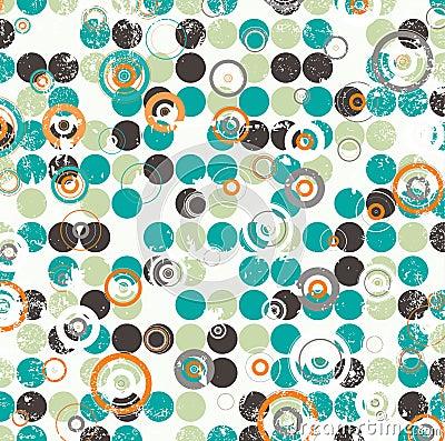 Abstract circular illustration raster design