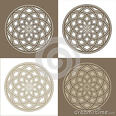 Abstract circular patterns