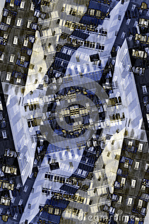 Free Abstract City Buildings Graphic Royalty Free Stock Photography - 32907967