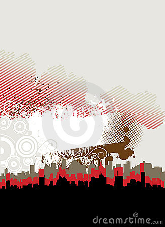 Abstract city frame