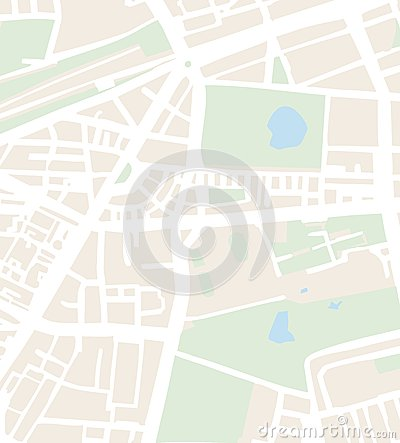 Abstract city map vector illustration with streets