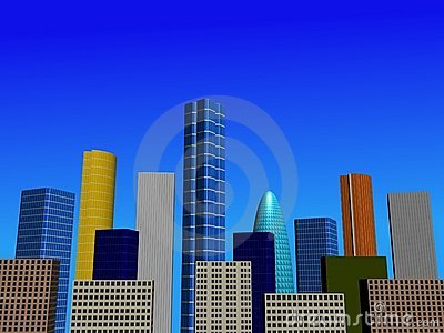 Abstract city skyline illustration