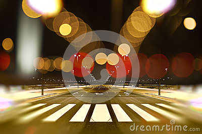 Abstract Cityscape At Night Background Stock Photo - Image ...