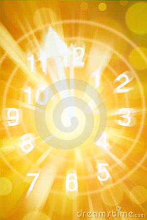 Abstract Clock Time Background