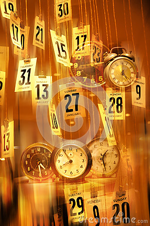 Abstract Calendar Clocks Time Background
