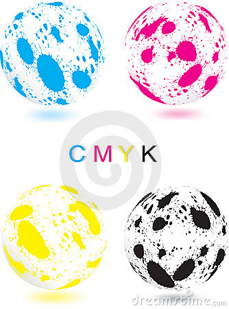 Abstract CMYK sphere