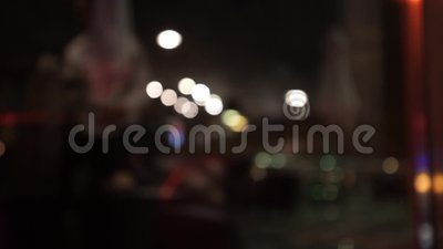 Abstract coffee shop in front of mirror, soft and blur concept stock footage