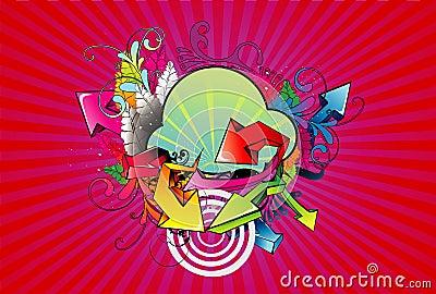 Abstract color arrows