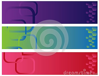 Abstract color banner illustration