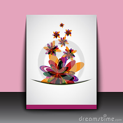 Abstract color flowers art background