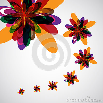 Abstract color flowers background
