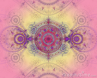 The abstract color fractal image.