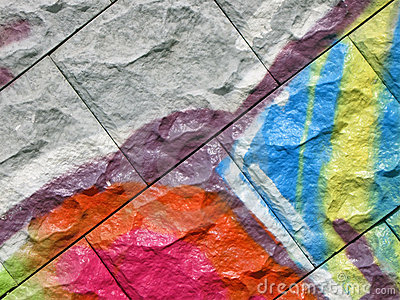 Abstract color graffiti,painted stone background,