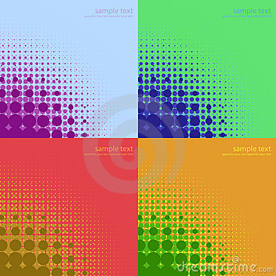 Abstract color halftones  backgrounds.