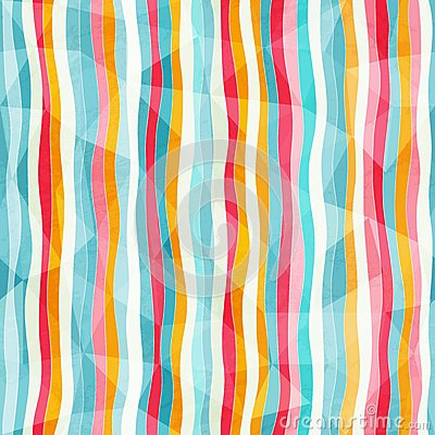 Abstract color lines seamless pattern with paper e
