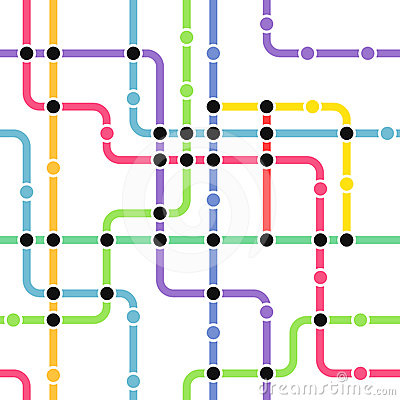 Abstract color metro scheme
