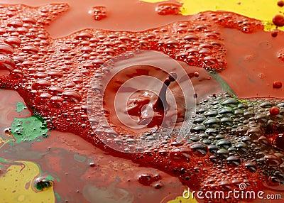 Abstract color pigments milk drops