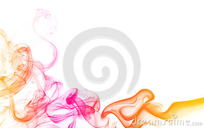 Abstract color smoke