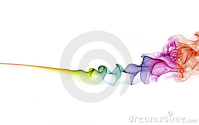 Abstract color smoke on white background