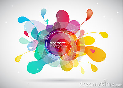 Abstract color splash background Vector Illustration