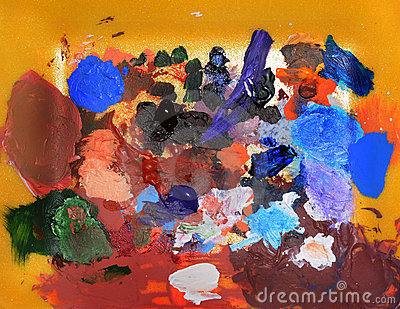 Abstract color splats