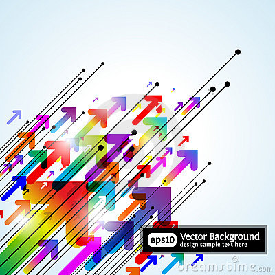 Free Abstract Colored Gradient Background With Arrows Stock Image - 16801771