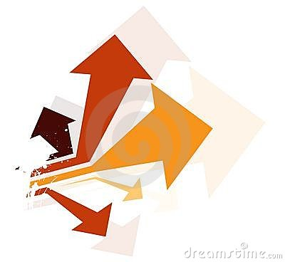 Abstract colorful arrow background