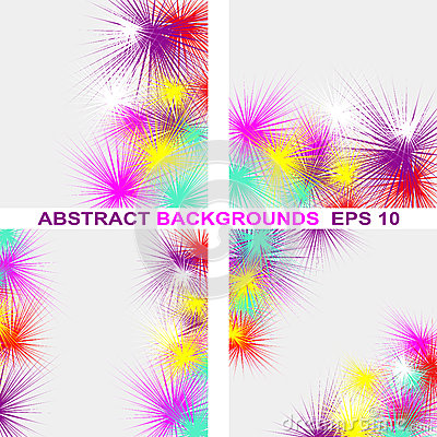 Abstract colorful Background in four variants.