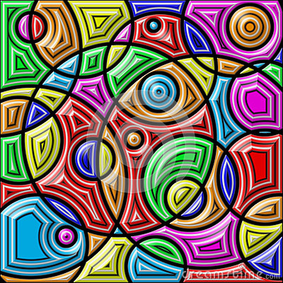 Free Abstract Colorful Background. Geometric Shapes. Royalty Free Stock Photos - 53226328