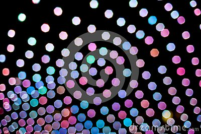 Abstract colorful background made of blurred lights Stock Photo