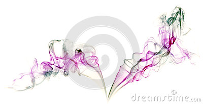 Abstract colorful background made with real smoke