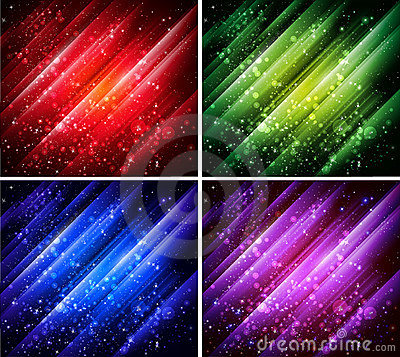 Abstract colorful backgrounds collection