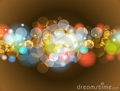 Abstract Colorful Blur Bokeh background Design Vector Illustration