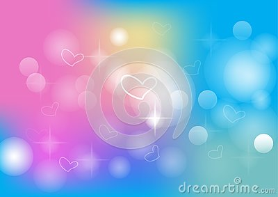 Abstract colorful bokeh background Vector Illustration