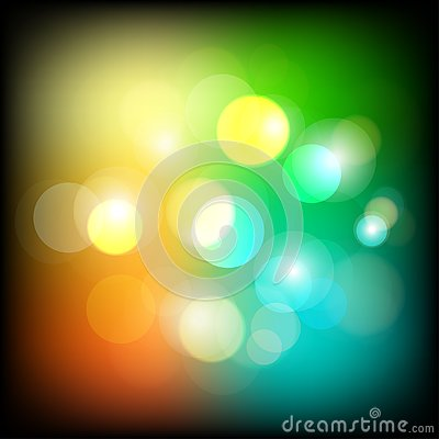 Abstract colorful bokeh light background. Night Lights Background. Vector. Illustration. Vector Illustration