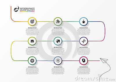 Infographic Ideas Infographic Business Timeline Template Vector – Business Timeline Template