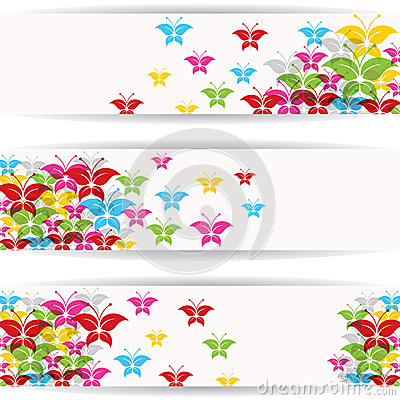 Abstract colorful butterfly design for website ban