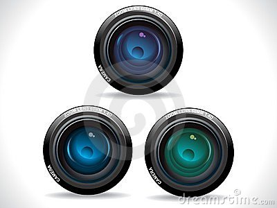 Abstract colorful camera lenses