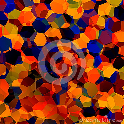 Free Abstract Colorful Chaotic Geometric Background. Generative Art Red Blue Orange Pattern. Color Palette Sample. Hexagonal Shapes. Stock Photos - 48940353